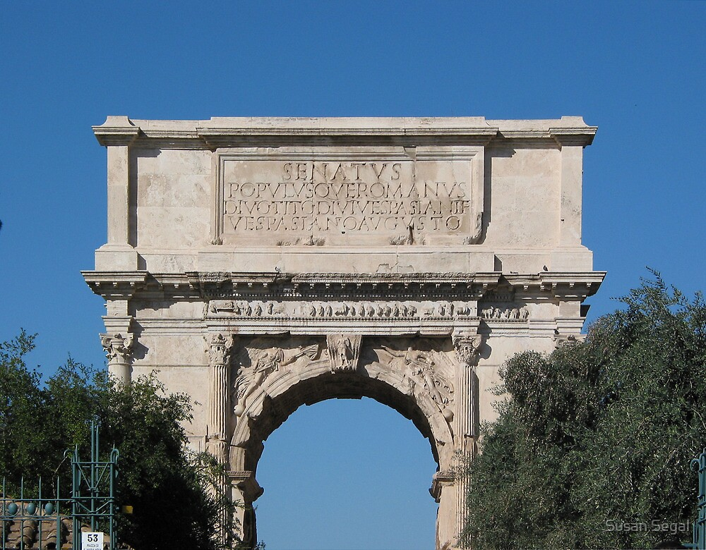 Arch of Titus by Susan Segal