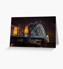 Sydney Harbour Bridge Greeting Card