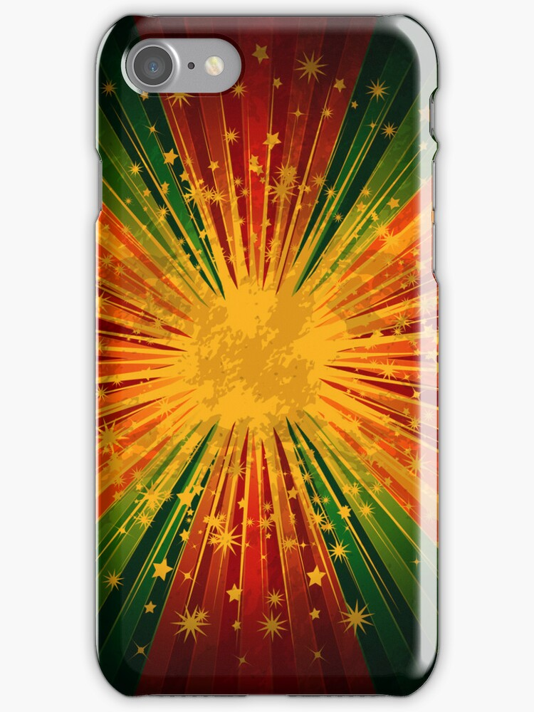 Retro Colorful Stripe Stars Explosion iPhone 5 / iPhone 4 Case / Samsung Galaxy Cases  by CroDesign