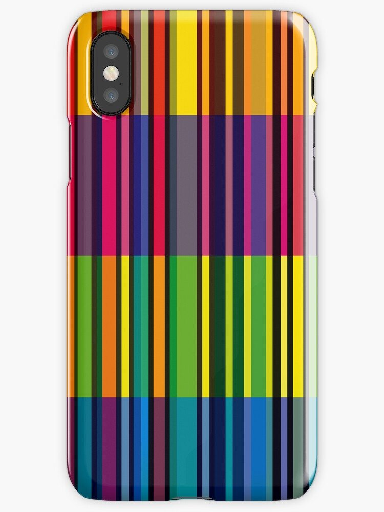 Retro Colorful Stripe Pattern Style iPhone 5 / iPhone 4 Case by CroDesign