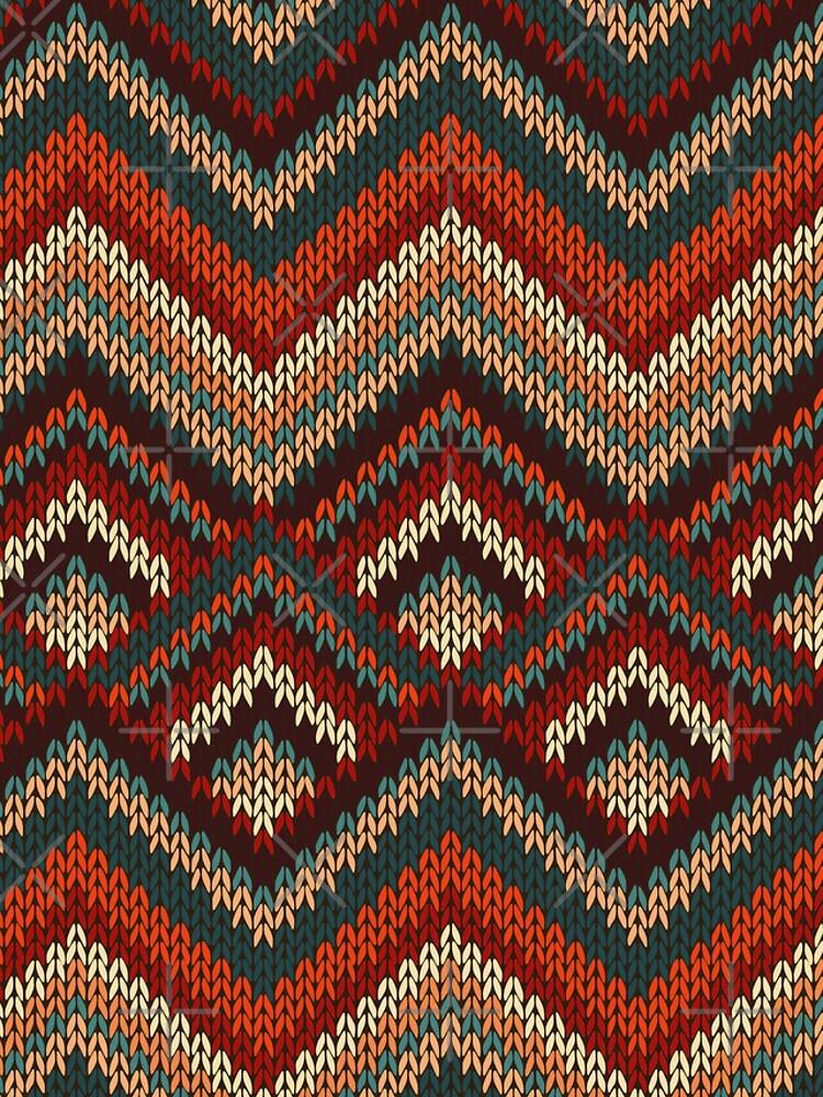 Modern Chevron Zig Zag Stripes Knitting Pattern iPad Case / iPhone 5 / iPhone 4 Case  / Samsung Galaxy Cases  von CroDesign