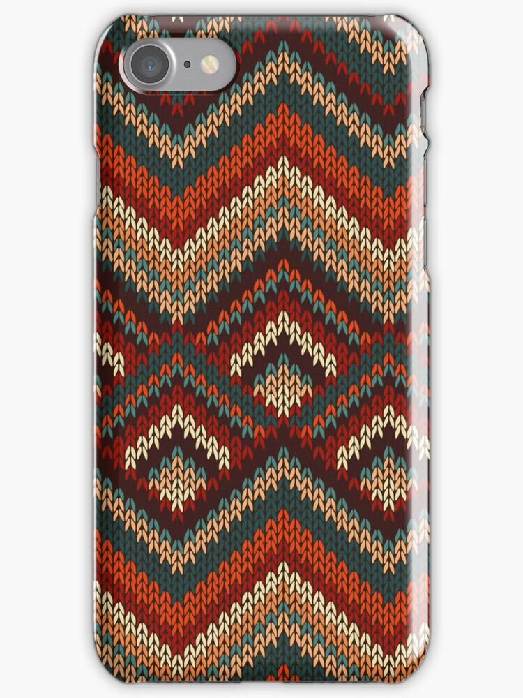 Modern Chevron Zig Zag Stripes Knitting Pattern iPad Case / iPhone 5 / iPhone 4 Case  / Samsung Galaxy Cases  by CroDesign