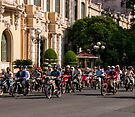 Motor bikes and classic buildings by Ian Fegent