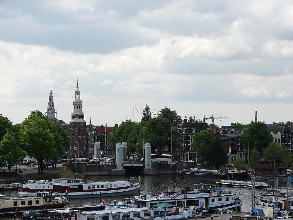 Amsterdam as on the palm by Natas