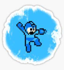 Mega Man Jumps and Shoots Sticker