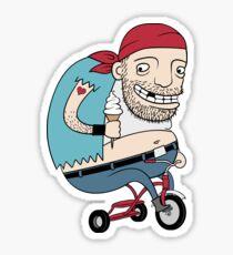 Bikie on a Trikie Sticker