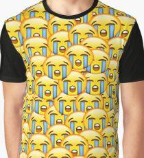 a2647effa184 sad cry emoji Graphic T-Shirt