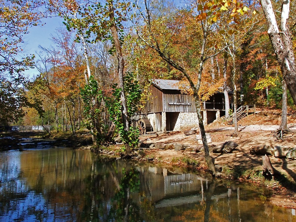 John Wesley Hall Grist Mill by RickDavis
