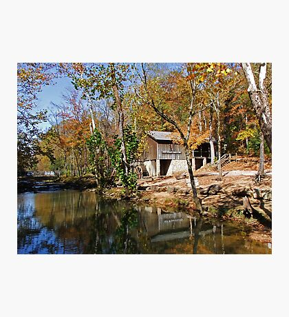 John Wesley Hall Grist Mill Photographic Print