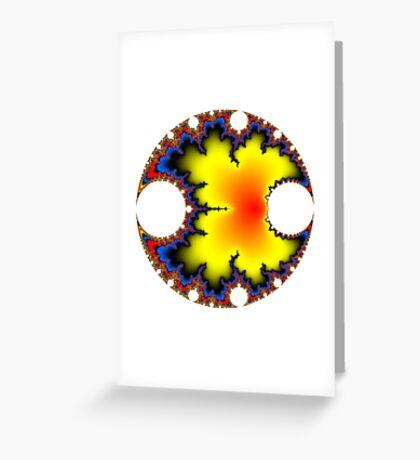 Mandelbrot Orb Greeting Card