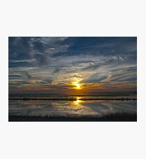 Levee Sunset Photographic Print