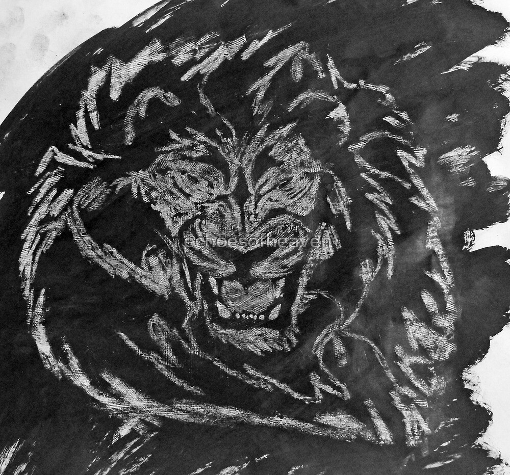 """""""Untamed Black and White""""  by Carter L. Shepard by echoesofheaven"""