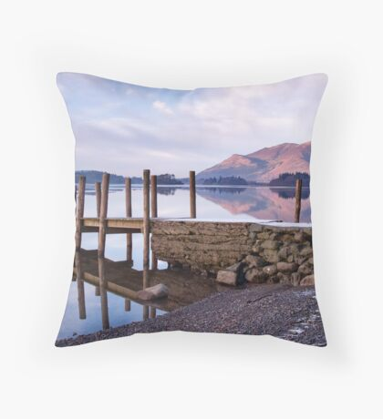 Ashness Jetty - Derwentwater - The Lake District Throw Pillow