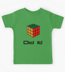 Rubix Cube - Did it! Kids Tee
