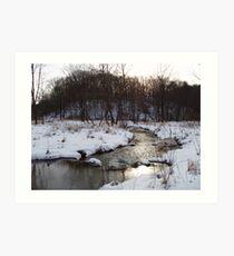 Winter in Spring Valley Park Art Print