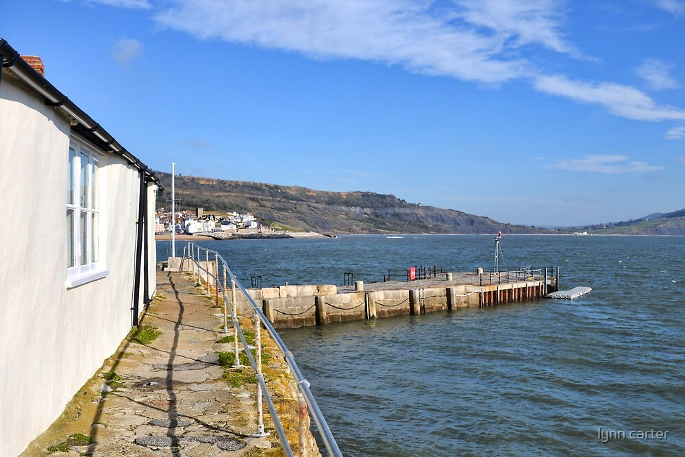 Lyme View From Harbour , Dorset, UK by lynn carter