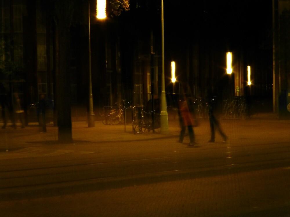 Evening Walk   Amsterdam, Netherlands by rubbish-art
