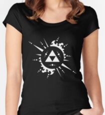 The legend of Zelda Triforce, White Women's Fitted Scoop T-Shirt