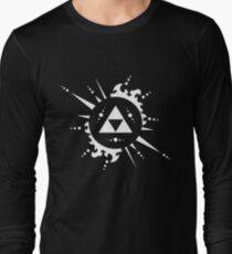The legend of Zelda Triforce, White Long Sleeve T-Shirt
