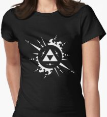 The legend of Zelda Triforce, White Women's Fitted T-Shirt