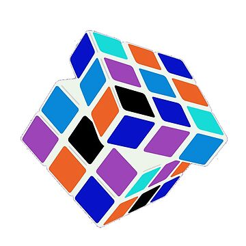 Rubix Cube - Unsolved. Negative Space by brzt
