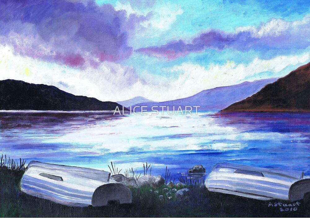 Boats by Loch Tay by ALICE STUART