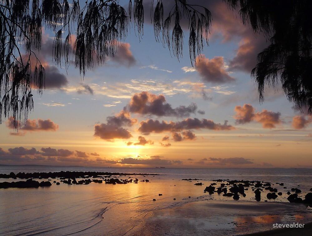 A Pastel - Coloured Sunrise by stevealder