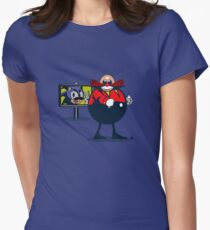 Dr. Eggman's Master Piece  Womens Fitted T-Shirt