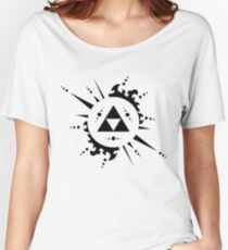 The legend of zelda Triforce, Black Women's Relaxed Fit T-Shirt