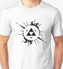 The legend of zelda Triforce, Black Unisex T-Shirt