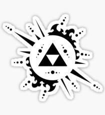 The legend of zelda Triforce, Black Sticker