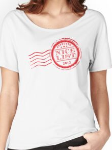 Santa's NICE LIST in red 2012 Women's Relaxed Fit T-Shirt