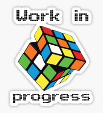 Rubix Cube - Work in progress Sticker
