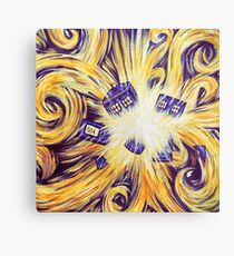 Exploding Time Canvas Print