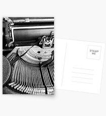 Typewritten Postcards