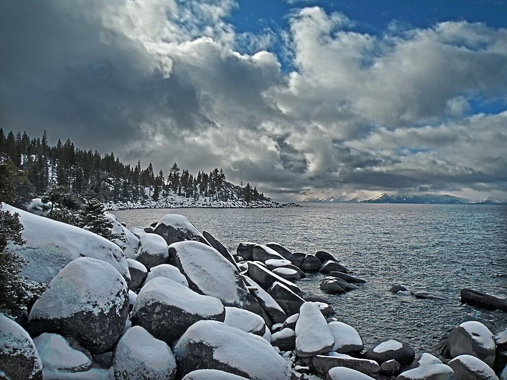 Lake Tahoe in Winter Storm by Gary & Marylee Pope