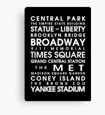 New York City Roll Canvas Print