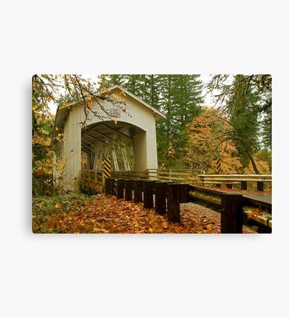 Bridge Over Linn County Canvas Print