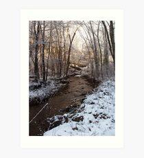 Creek on Manor Furnace Road Art Print