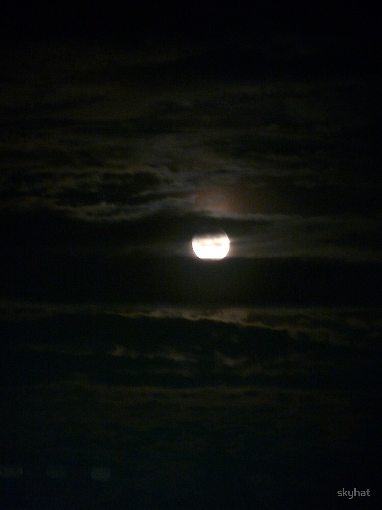 Clouded Moon by skyhat
