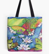 Frogs On Logs Tote Bag