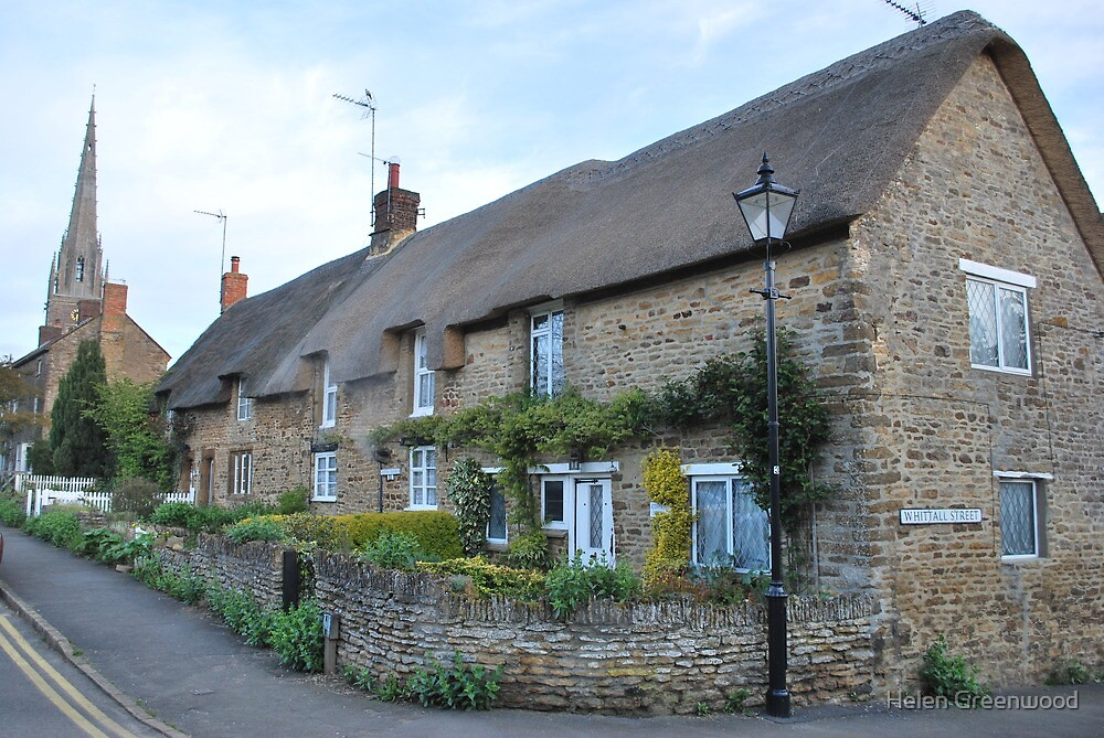 Thatched cottage in Kings Sutton, Nr Banbury, Oxon by Helen Greenwood