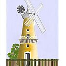 Battery Point Windmill, Hobart Tasmania by Beth Mills