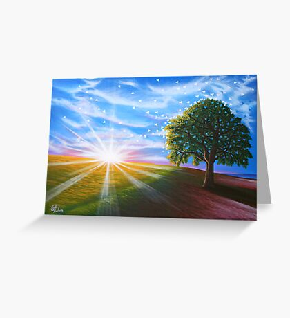 Warm Hearted - greeting card Greeting Card