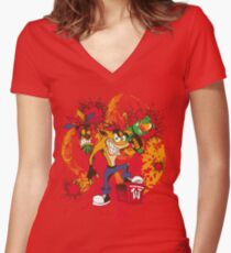 Bad-A Bandicoot Women's Fitted V-Neck T-Shirt