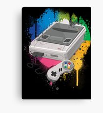Gaming console splatter Canvas Print