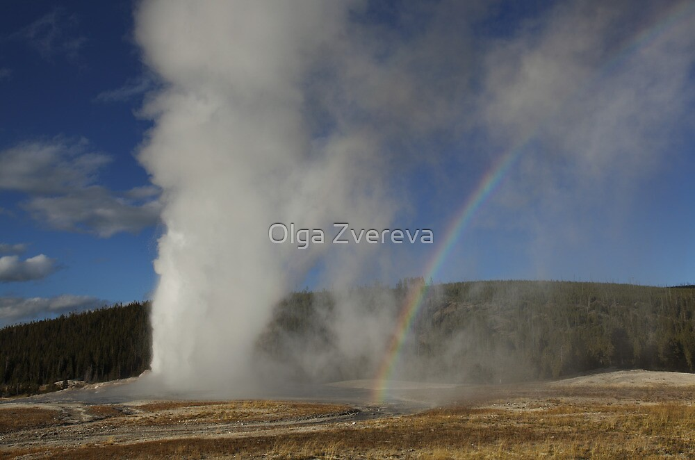 Old Faithful Rainbow by Olga Zvereva