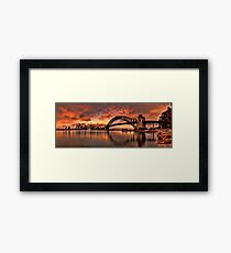 Kirribilli Sunrise - Panorama Framed Print