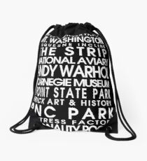 Pittsburgh City Roll Drawstring Bag