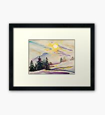 Misty Winter Afternoon In The Alps Framed Print
